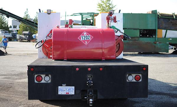 Fuel Truck Rear Tank