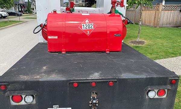 Fuel Truck Rear View Tank